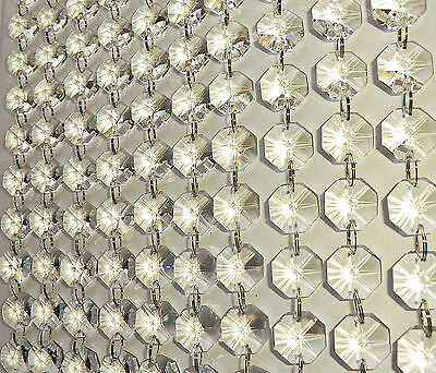 100 Chandelier Light Crystals Droplets Cut Glass Beads Wedding Drops 18Mm Parts 2 • CAD $34.76