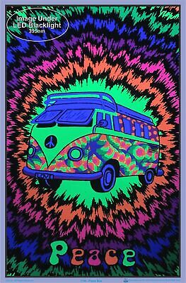 "Peace Bus Flocked Blacklight Poster - 23"" x 35"" 2"