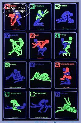 Zodiac Positions Blacklight Poster 23 x 35 2