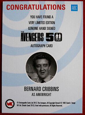 THE AVENGERS 50th - Bernard Cribbins - Autograph Card - Unstoppable 2012 AVBC 2