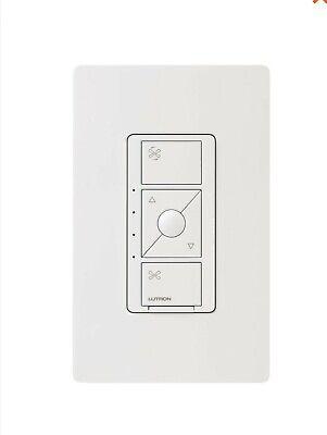 Caseta Wireless Smart Fan Speed Control, Single-Pole, White  LUTRON 2