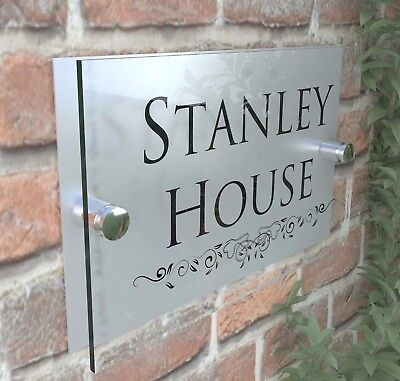 Classic House Sign Plaques Door Numbers 1 - 999 Personalised Name Plate 4