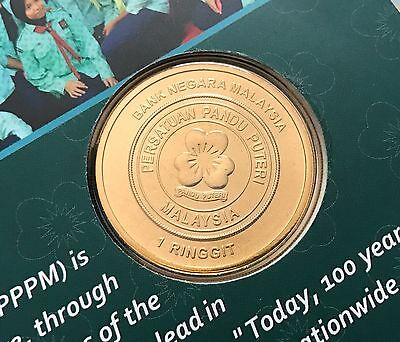 Coin card girl guides association malaysia 100 years 2016 commemorative coin