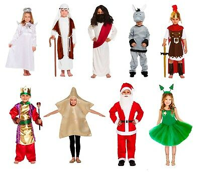 Childs ELF Fancy Dress Nativity Christmas Play Dressing Up Outfit Age 4-12 Years