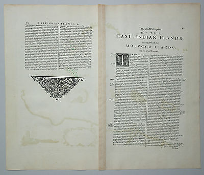 Insularum Moluccarum nova descriptio - Janssonius 1630 - Molukken - Indonesien