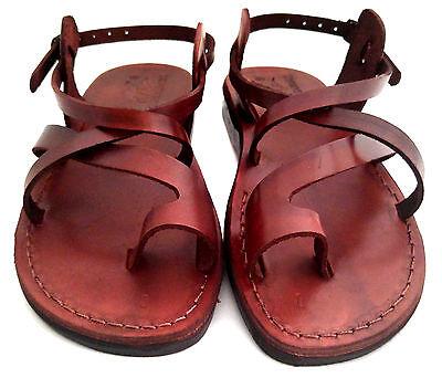 36 Jésus Romain Biblique Marron De Sandales Pour 49 Cuir Hommes Chaussures En jRqL354A