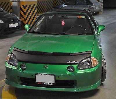 Car Bonnet Mask Hood Bra + LOGO Fits Honda CRX DEL SOL 92 93 94 95 96 97 98