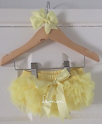 Deluxe Girls Baby Frilly Tutu Knickers Cake Smash Photoshoot 1st Birthday Outfit 12