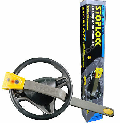 StopLock Original Robust High Security Flashing LED Car Van Steering Wheel Lock 4