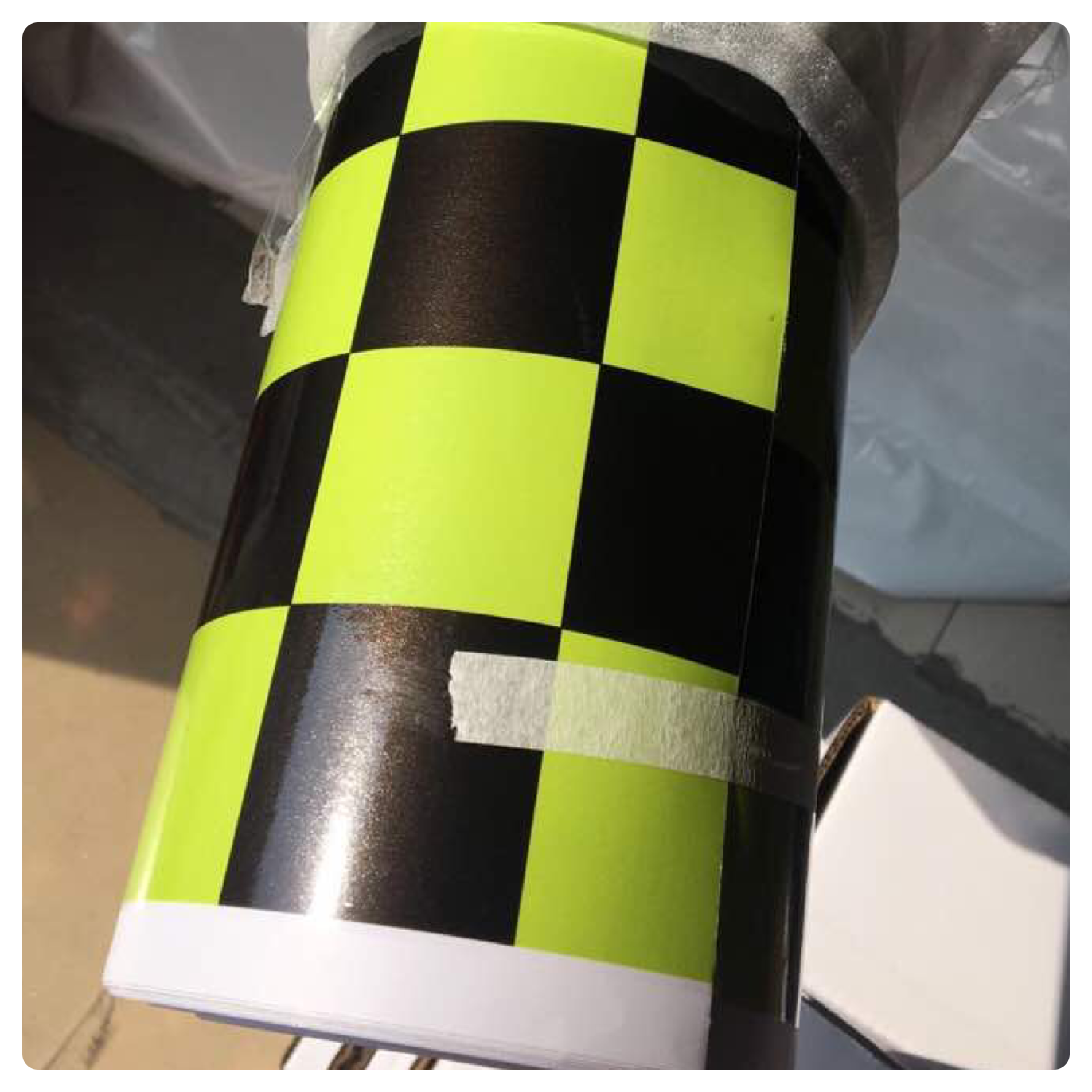 NEW CHECK CHEQUERED GLOSS VINYL CAR WRAP WRAPPING GRAPHIC sticker bomb Car Roof 4