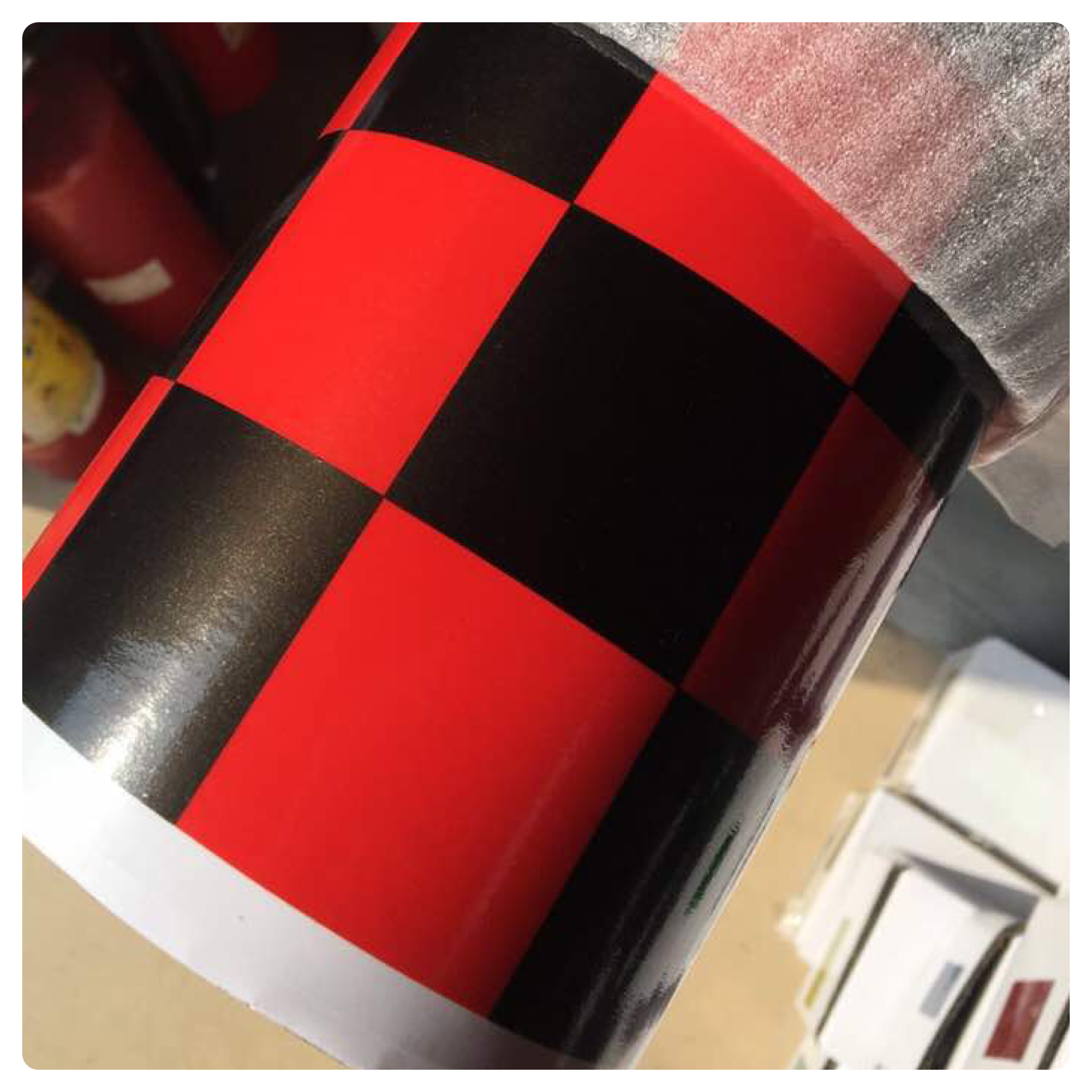NEW CHECK CHEQUERED GLOSS VINYL CAR WRAP WRAPPING GRAPHIC sticker bomb Car Roof 7