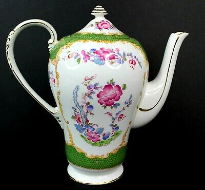 Vintage A.B.J Grafton Canton China Teapot Made in England Antique Beautiful 2