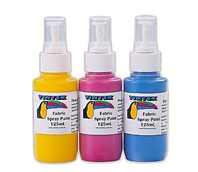 Tintex Fabric Spray Paint Packs (3x125ml and 6x125ml)
