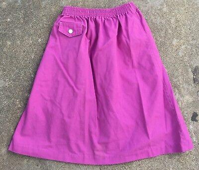 Vintage Kim Stacy Skirt Made In USA 70s 80s Girls 7 Elastic Waist 3