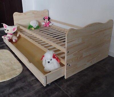 Babybett Gitterbett Kinderbett Komplet Set 70x140 UMBAUBAR 5 Farben Schublade 5