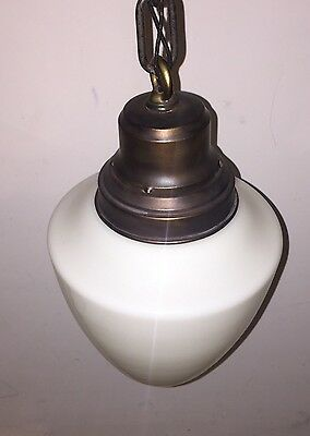 Vintage Pendant Light Antique Beautiful Globe Fixture 4