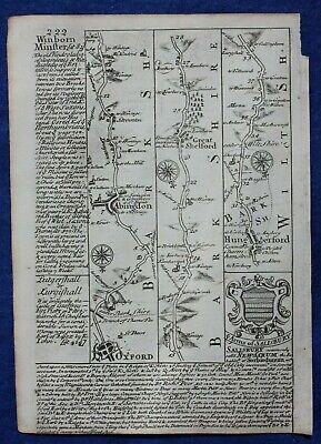 Original antique map from 'Britannia Depicta' , BERKSHIRE, Bowen, c.1724 2