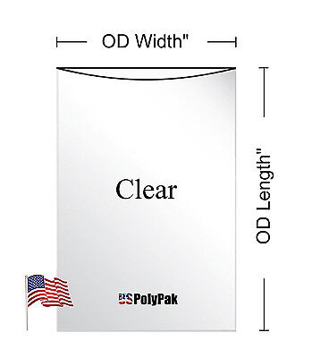 "100-1000 7x9"" Clear Poly Bags 1Mil LDPE Layflat Open Top End Plastic Baggies"