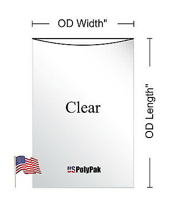 "100 - 1000 5x12"" Clear Poly Bags Layflat 1Mil LDPE Open Top End Plastic Baggies"