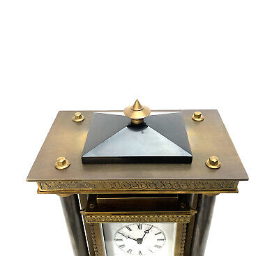 French Style Falling Gravity Driven Bronze Industrial Elevator Industrial Clock 6