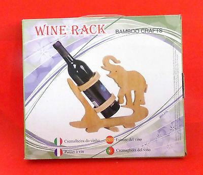 Christmas Gift Boxed Single Tabletop Premium Carbonized Bamboo Wine Rack Holder 4