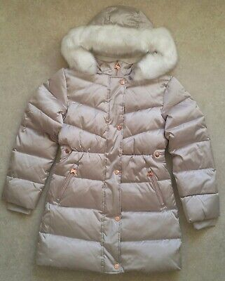 Baker by Ted BakerGirls' Ivory Padded Shower Resistant Coat Age 12 Years 3