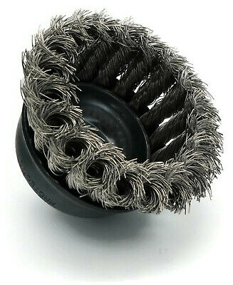United Abrasives SAIT Stainless Steel Wire Knot Cup Brush for Angle Grinders 3