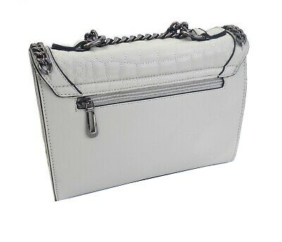 SAC A MAIN IT BAG Gris Clair Taupe Cuir LUXE Pochette