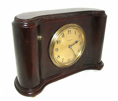 Antique Mahogany Bracket Mantel Clock : H. LEE & SONS HULL (a76) 3