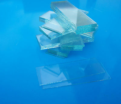 MICROSCOPE SLIDES - 50 x clear,new, UNGROUND edge suits Aquarium maintenance 2