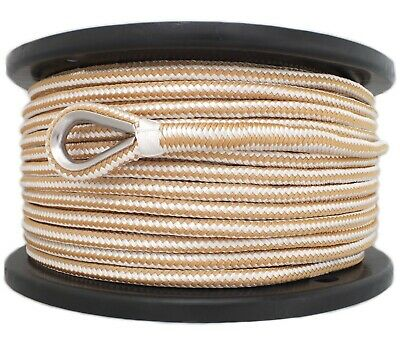 12mm x 100M Double Braid Nylon Anchor Rope, Super Strong, Great for Drum Winches 2