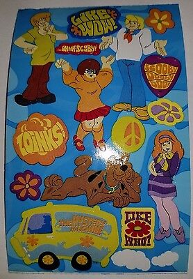 Sandylion Scooby-Doo Stickers lot of 5 SHEETS 4 X 6 2