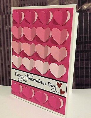 Stampin Up Happy Valentine S Day Ombre Pink Hearts Handmade Card
