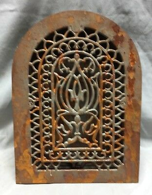 One Antique Cast Iron Arch Top Heat Grate Wall Register 8X12 Dome Vtg 24-19C 7