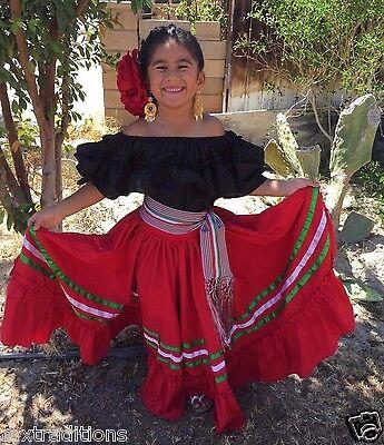 Mexican Girl Children Dress 5 De Mayo Fiestavestido Fiesta
