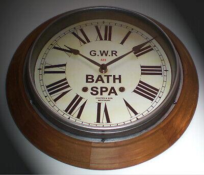 Great Western Railway GWR Victorian Style Wooden Clock, Bath Spa Station 2