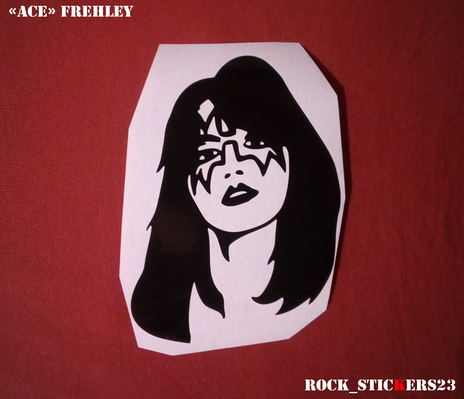 Ace frehley sticker kiss vinyl decal chris shiflett gibson les paul foo fighters 2 2 of 5
