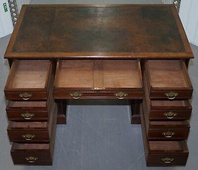 Rare Hampton & Son's Pall Mall Mahogany Twin Pedestal Writing Partners Desk 9