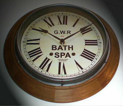 Custom Railway Clock, Victorian Wooden Clock, Bespoke Dial Made to Order. 5