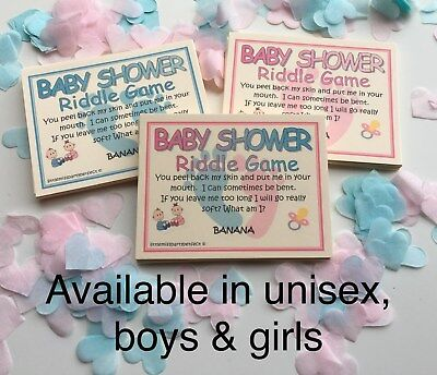 Baby Shower Boys Riddle Party Games Adult Humour 5