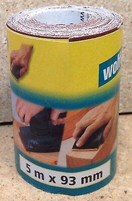 Wolfcraft 1 Rolle Schleifpapier  Schleifpapierrolle  5m x 115mm  K 240   1776000