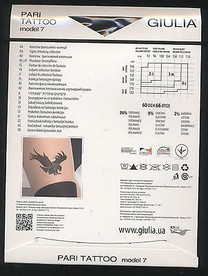 TAILLE 2 S COLLANT PARI EFFET JARETELLES NEUF - 60 DENIER NOIR GIULIA