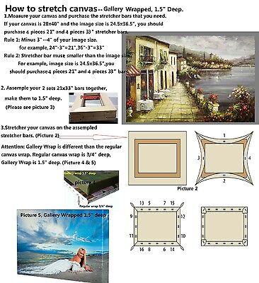 "Art Canvas Stretcher Bar, Stretching Strip 6 8 10 12 14 16 20 24 30 36 48 60 72"""