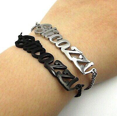 Bracciale donna in acciaio inox a maglia scritta sticazzi con braccialetto da 6