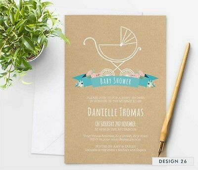 Personalised Baby Shower Invitations For Gender Neutral Boy