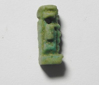 ZURQIEH - sc781-  ANCIENT EGYPT ,  FAIENCE PTAH AMULET , 600 B.C 2