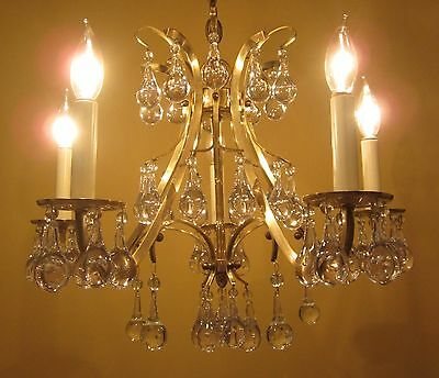 Vintage Lighting high quality Mid Century chandelier   Extraordinary Glass 2