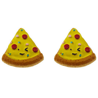 12/20pcs Pizza Slice Resin Flatback Cabochons DIY Accessories Craft Findings 8