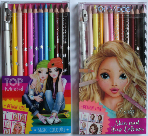 Bundle Buy TopModel - Top Model Skin & Hair 12 Pencil Set & Top Model Coloured 10