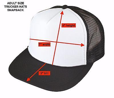 Get 4 Blank Two Tone Foam Mesh Trucker Hats Caps Snapback WHOLESALE LOT PACK